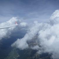 In der Welle über St. Moritz