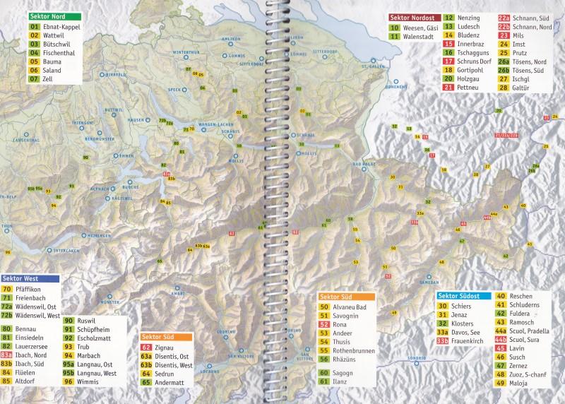 Übersicht der Aussenlandefelder